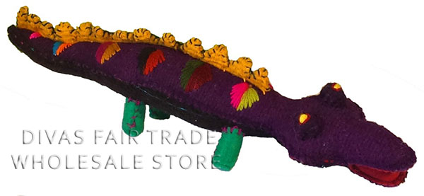 Crocodile 100% Natural Wool Stuffed Toys Woolly Amigos