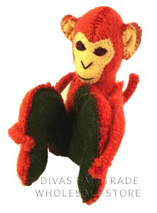 Seating Monkey 100% Natural Wool Stuffed Toys Woolly Amigos
