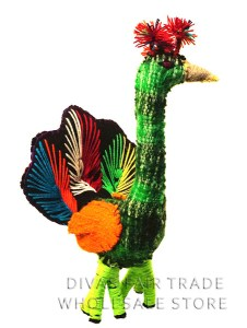 Peacock 100% Natural Wool Stuffed Toys Woolly Amigos