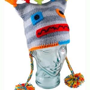 956d17fbec5 Kids Robot Pom-Pom Hat