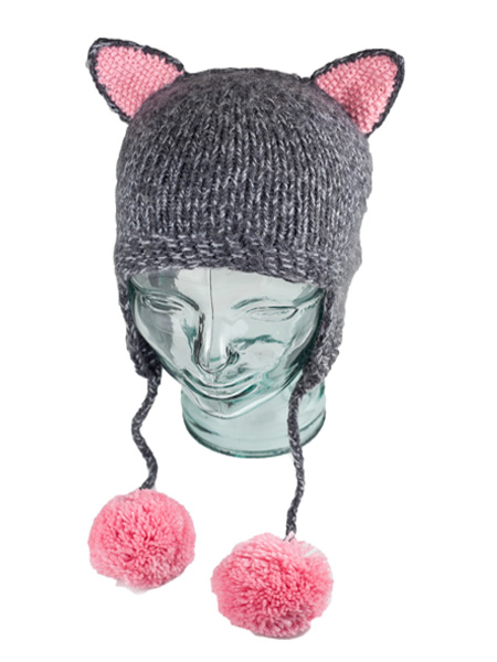 Animal Kids Grey Cat Hat