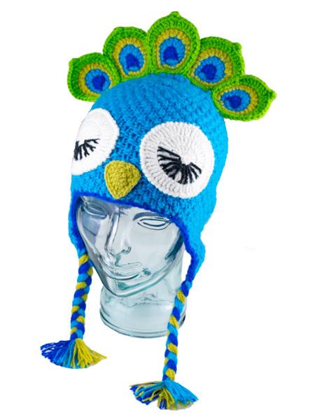 Animal Kids Peacock Hat