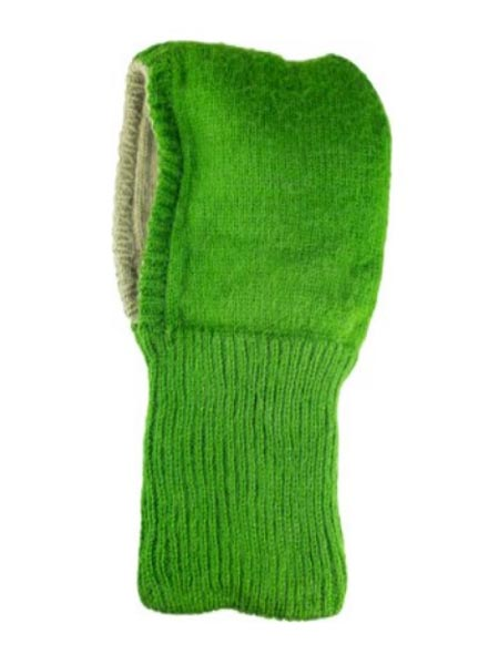 Arctic Hood Reversible, DarkGreen/Ash, Alpaca Blend winter Balaclava for the whole family