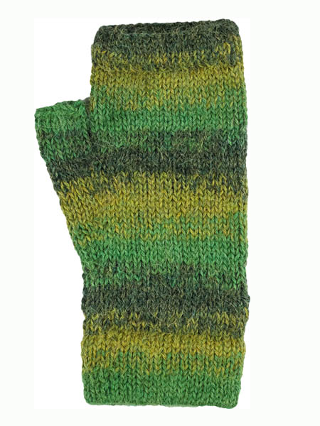 Awana Wrist Warmer, Green 100% Alpaca, winter wrist warmers for the whole family
