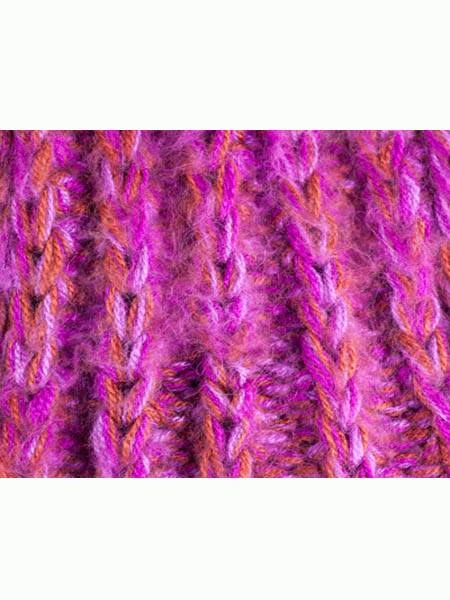 Classic Scarf Alpaca Blend, Fucsia, Chunky, Unisex winter Scarves for the whole family