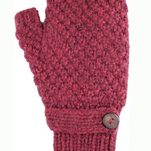 Button Wrist Warmer, Burgundy Alpaca Blend, winter wrist warmers for the whole family
