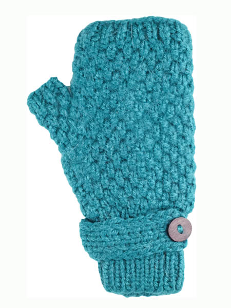 Button Wrist Warmer, Teal Alpaca Blend, winter wrist warmers for the whole family