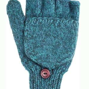 Glitten Convertible Mitten, Aqua, Alpaca Blend, winter Mittens for the whole family