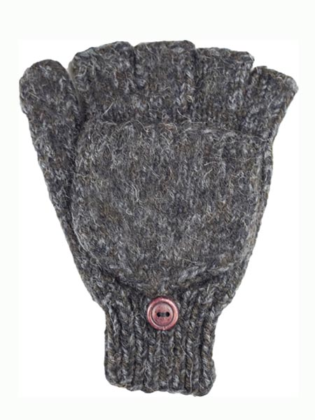 Glitten Convertible Mitten, Black, Alpaca Blend, winter Mittens for the whole family