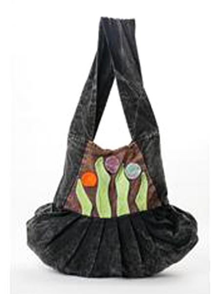 Hobo Bag Green Leaf