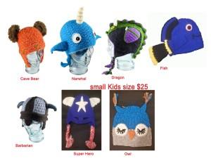 Animal Kids Assorted Hats