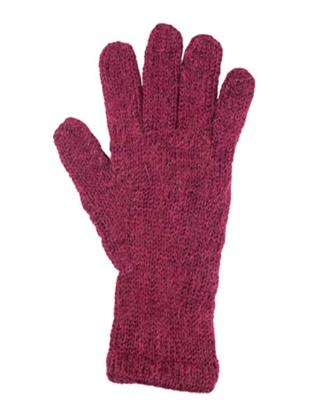 Milkshake Glove, Berry 100% Alpaca, winter glovess for the whole family