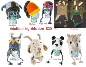 Animal Adults Assorted Hats