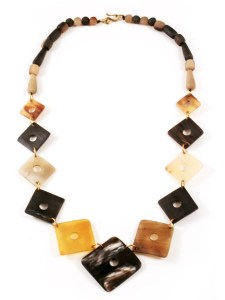 Horn Squares Necklace