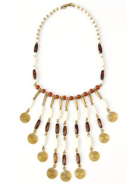 Caramel Mocha Swirl Necklace