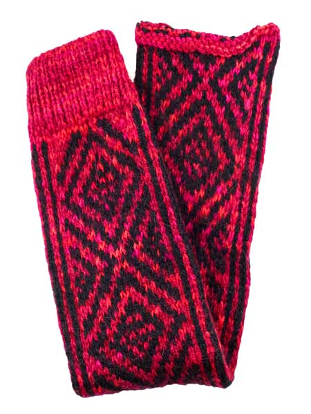 Incas Leg Warmer Alpaca Blend, Red, Winter accessories for the whole family