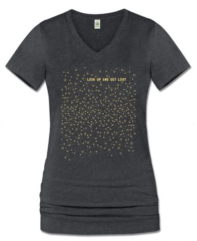 LOST IN THE STARS ECO V-NECK T-SHIRT