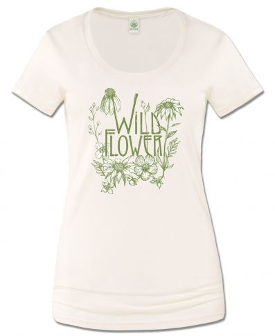 WILD FLOWER SCOOP NECK T-SHIRT