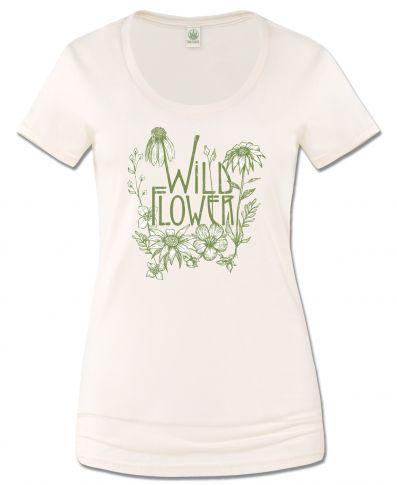 WILD FLOWER SCOOP NECK T-SHIRT