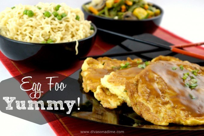 OMG! Who knew Egg Foo Yung was so easy (and cheap!) to make? Bean sprouts make it fresh and crunchy. What a delicious recipe for dinner, breakfast, brunch or Meatless Monday and I want that sauce on everything!