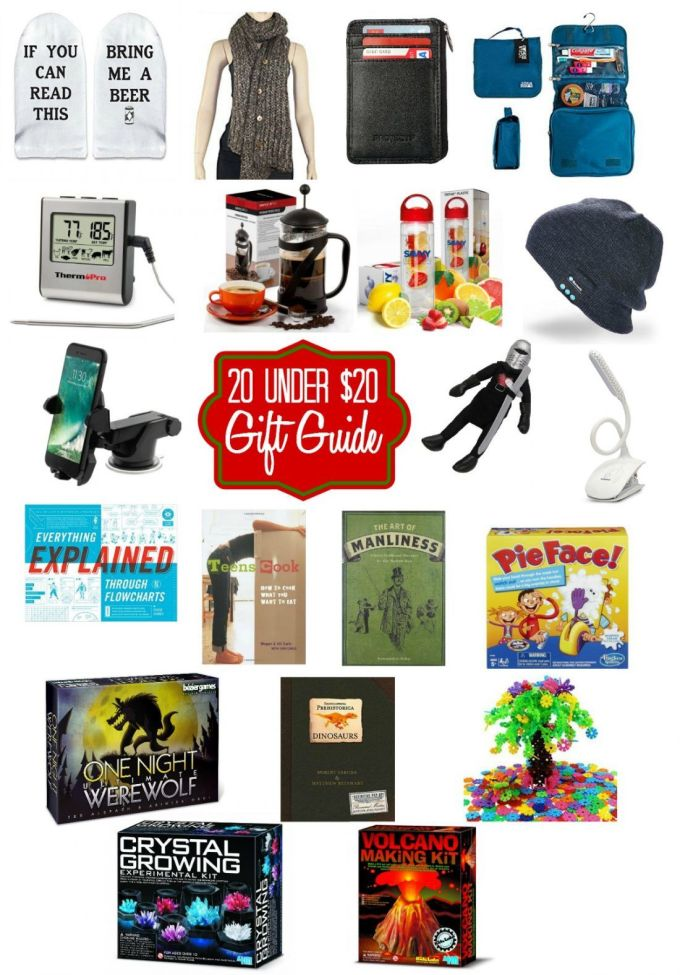 Great gift ideas for everyone on your list for under $20! Gifts for men, women, and kids.