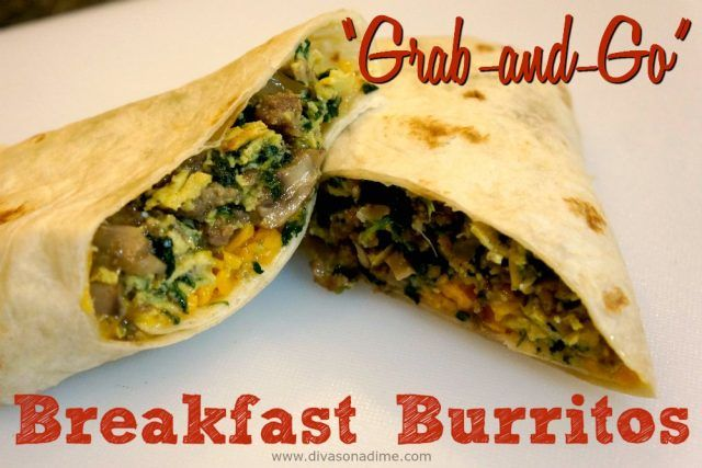 Easy, affordable freezer to microwave breakfast burritos! Delicious and healthy, make them on the weekend and have grab and go breakfast all week.