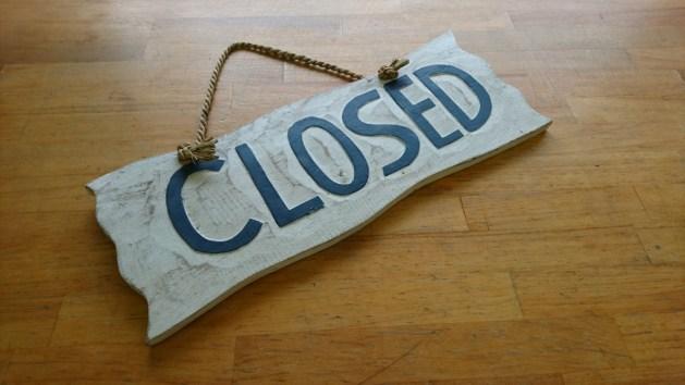 本日都合により17時にて閉店とさせていただきます。