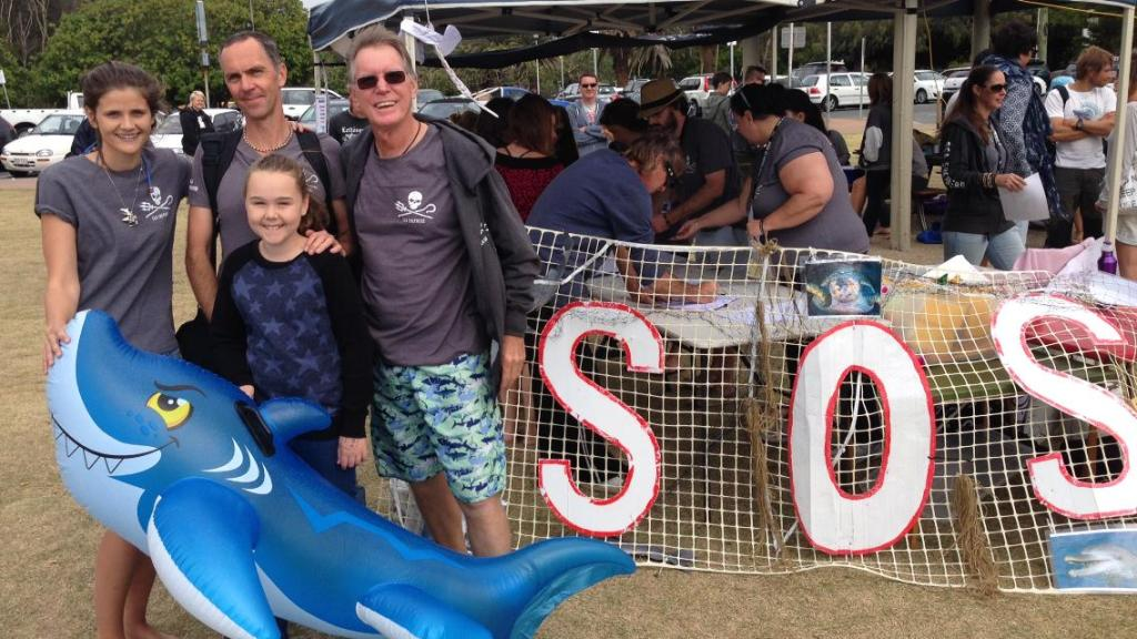 NO Shark Cull Rally Burleigh Heads Gold Coast Sept 2014