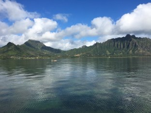 One of our data collection sites in Kaneohe Bay