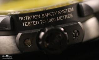 """Das """"Rotation Safety System"""" von Oris blockiert die Lünette gegen unbeabsichtigtes Verstellen"""