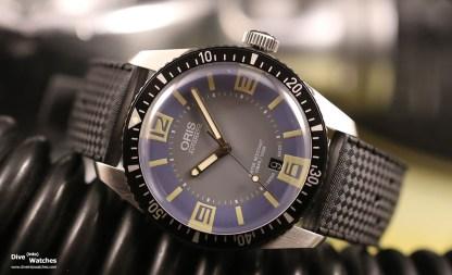 "Oris Sixty-Five Diver mit grau-blauem ""Deauville"" Zifferblatt wurde 2015 lanciert"