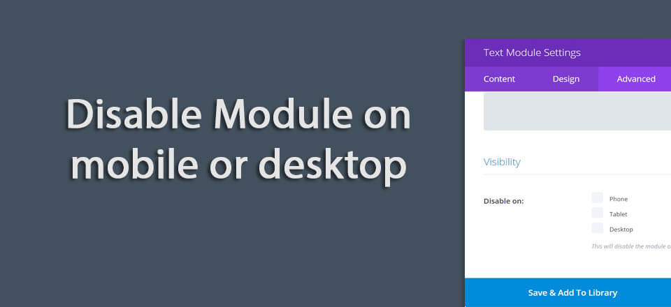 "Quick fix when Divi row section or module ""disable on mobile"" is not working"