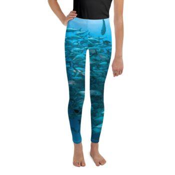 Diver Dena's Adventure Shop-Fintastic Fish Girls Leggings (8-20)