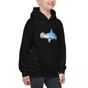 Diver Dena''s Adventure Shop-Hammerhead Shark Kids Hoodie