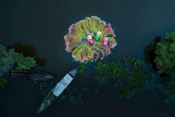'Flowers on the Water' de Khanh Phan | Ganadora categoría People