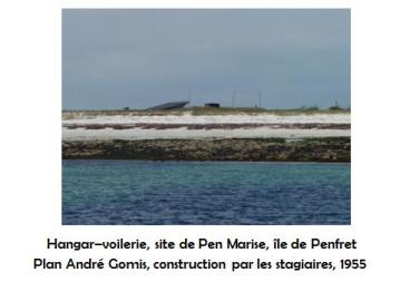 Patrimoine bâti de l'école de voile Les Glénans : les bâtiments de l'architecte André Gomis