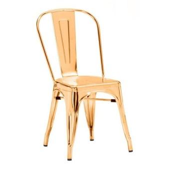 Apt 2B Anita Gold Metal Chair
