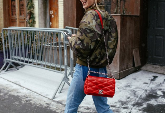 Camo and red