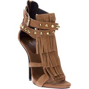 Studded fringe sandals by Giuseppe Zanotti