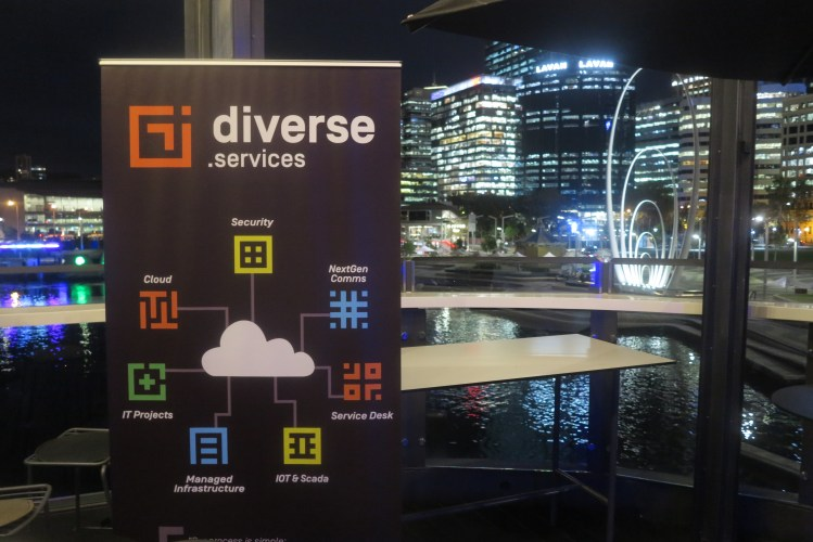diverse services banner and elizabeth quay background