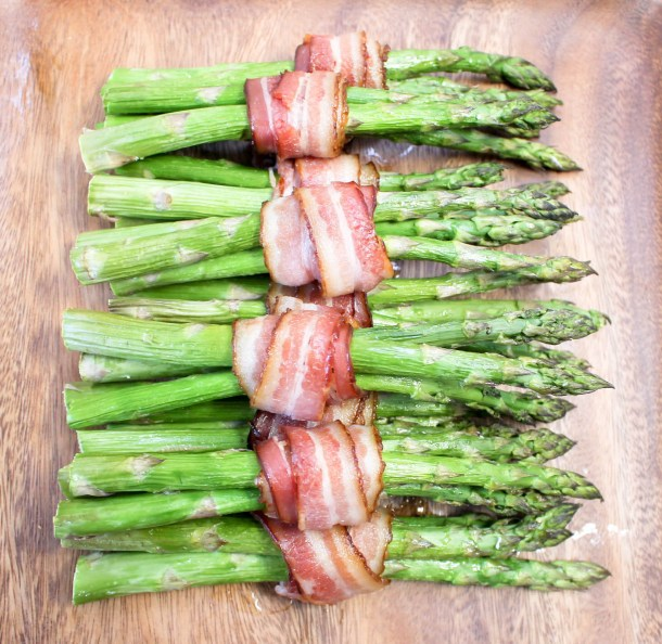 Bacon Wrapped Asparagus by Diverse Dinners