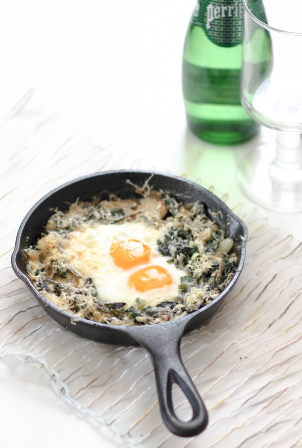 Ramp Baked Eggs by Diverse Dinners