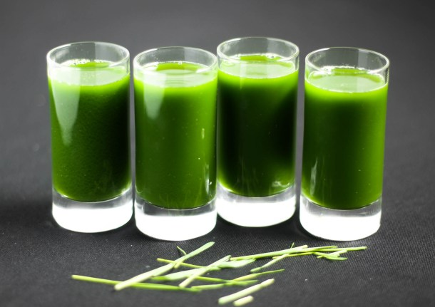 Pineapple Wheatgrass Shots by Diverse Dinners