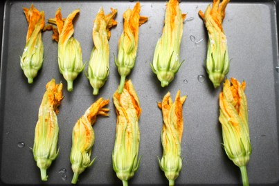 Stuffed Squash Blossom Kale Salad by Diverse Dinners