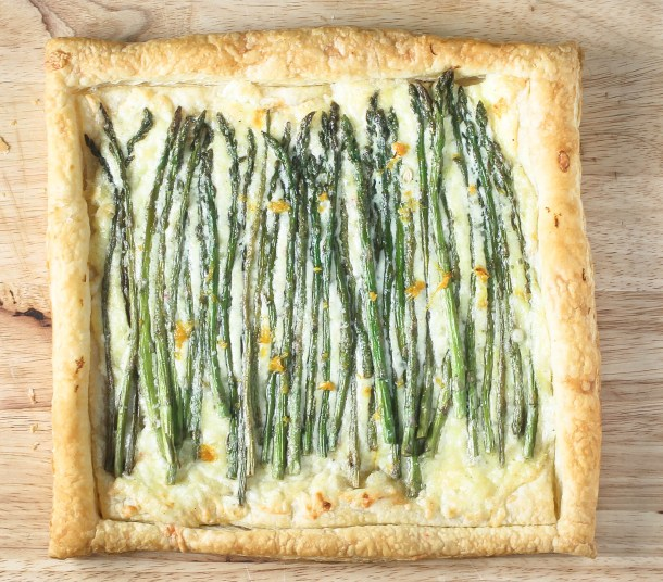 Asparagus Gruyere Tart by Diverse Dinners