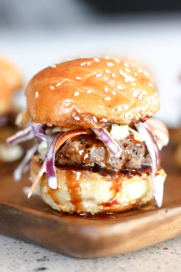 Bourbon BBQ Sliders with Coleslaw by Diverse Dinners