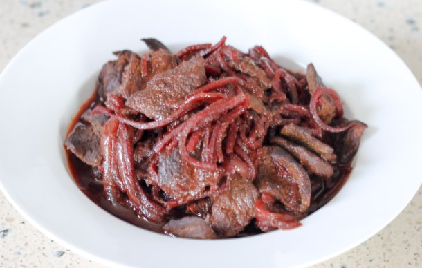 Beet Smothered Beef by Diverse Dinners