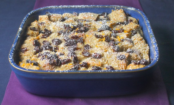 Port Soaked Cranberry Bread Pudding by Diverse Dinners
