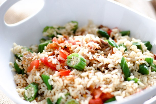 Okra Fried Rice by Diverse Dinners