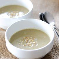 Roasted Cauliflower Blue Cheese Soup